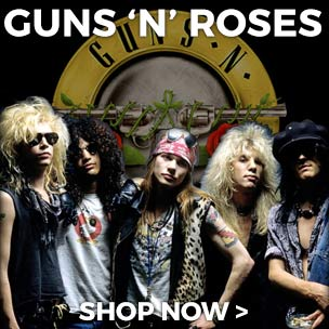 You'll truly be in Paradise City with our official Guns N' Roses tees, vests, jumpers and mugs. Shop now