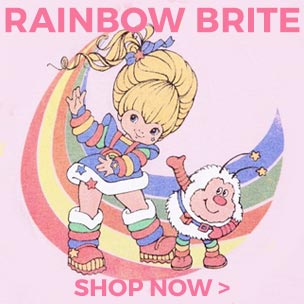 Brite-n up your wardrobe and shop our Rainbow Brite t-shirts and accessories