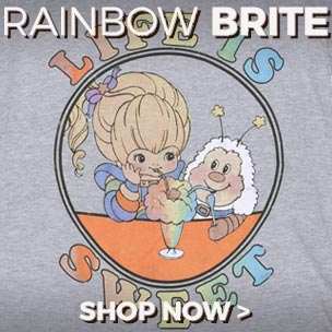 Our exclusive range of official Rainbow Brite T-Shirts, jumpers and accessories is sure to make your inner child jump for joy.