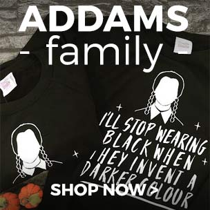Shop our scarily good Addams Family clothing collection