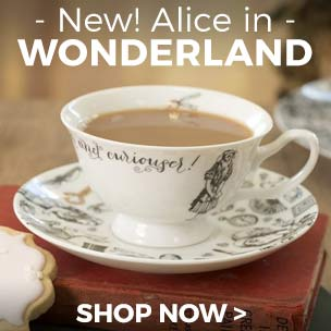 Add a vintage touch to your home with our Alice in Wonderland homewares, fit for a fancy tea party!