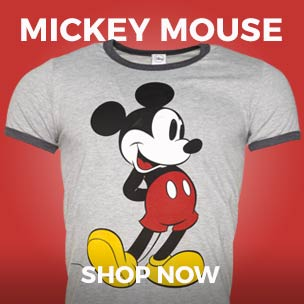 Capture some of Mickey Mouse related famous Disney magic with our official range of T-Shirts and more