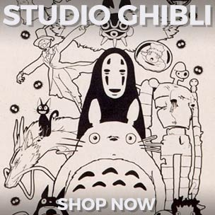 Show your love in style with our range of Studio Ghibli t-shirts, tote bags and more!