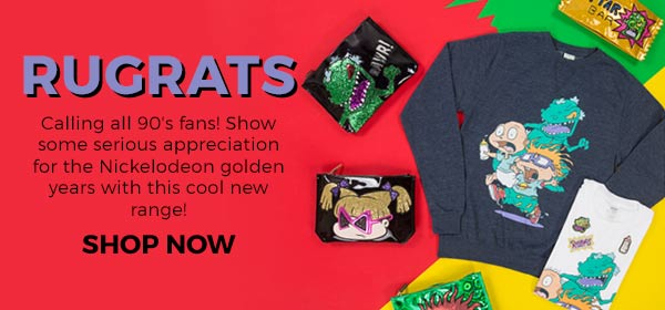 Calling all Rugrat fans! Show some serious appreciation for the Nickelodeon golden years by shopping this cool new range!