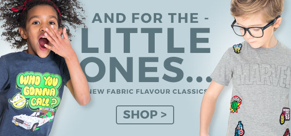 Shop our fabulous kids collection, where every Fabric Flavours T-Shirt, sweater and onesie is made for a truly enjoyable, unique wear, each and every time.