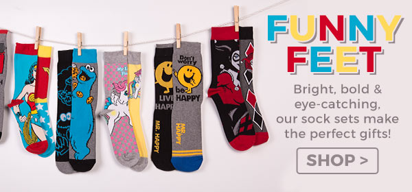 You can't go wrong with a pair of cheery or novelty socks! Our sock sets make the perfect gifts - for truly fun-filled feet.