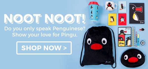 A lovely nod of appreciation to the much loved Pingu...noot noot!