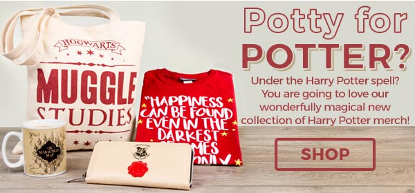 Potty for Potter? Our Spellbinding collection of Harry Potter T-Shirts, Clothing, Gifts and Accessories