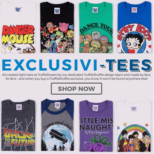 Celebrate your favourite old-school movies, cartoons, games & music (and look totally unique!) with our exclusive clothing and gift range.