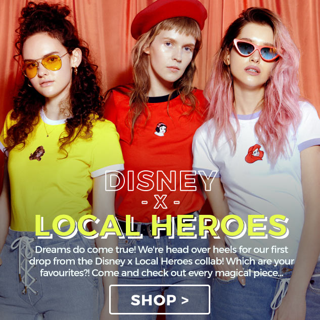 Dreams do come true! Come and shop our first drop from the Disney x Local Heroes t-shirts and jumpers!