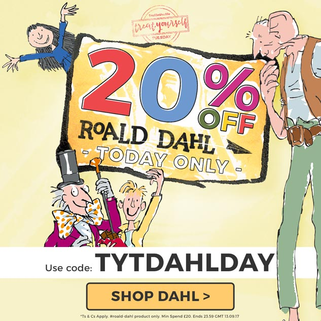 20% off Roald Dahl! Use code: TYTDAHLDAY
